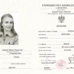 Dyplom licencjatu kierunku fizjoterapia