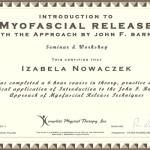 Dyplom kursu metody Myofacial Release