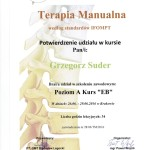 Certyfikat - Terapia Manualna EB