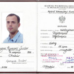 Mgr Grzegorz Suder - dyplom